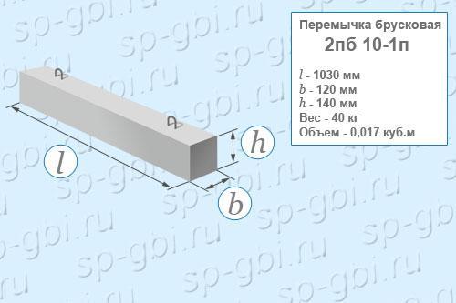 Перемычка брусковая 2ПБ 10-1п