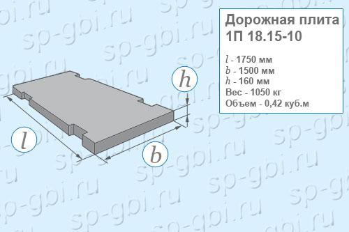 Плита дорожная 1П 18.15-10