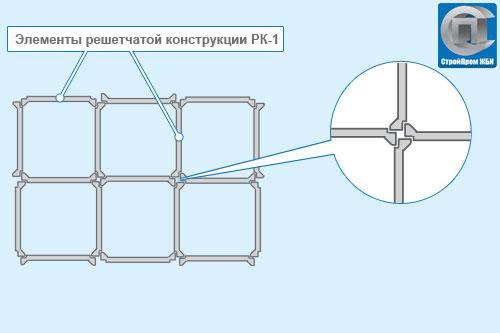 Элемент решетчатой конструкции РК-1 (решетка РК-1)