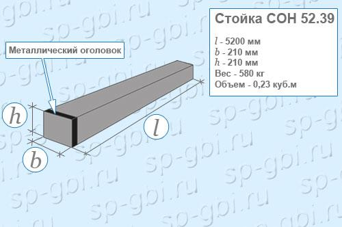 Стойка СОН 52-39