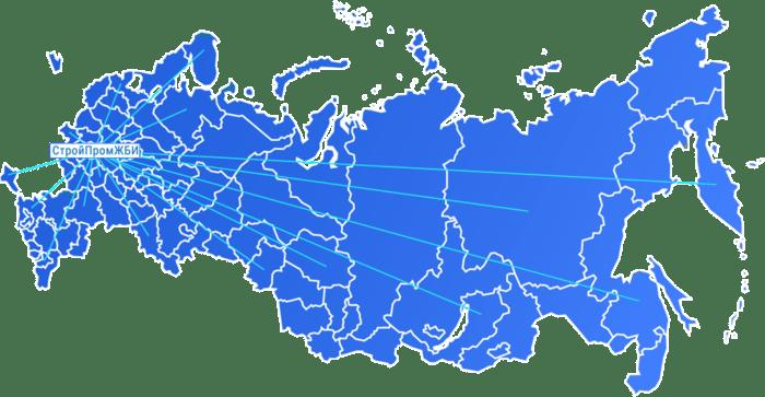 Регионы поставок ЖБИ