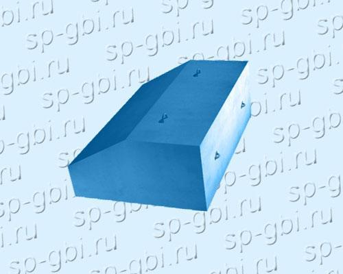Утяжелитель бетонный УБО - схематическое изображение