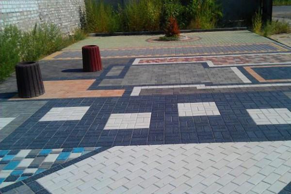 Тротуарная плитка Кирпичик - Примеры укладки