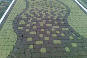 Пример укладки плитки Старый город - 3
